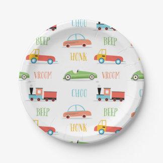 Beep Honk Choo Paper Plates