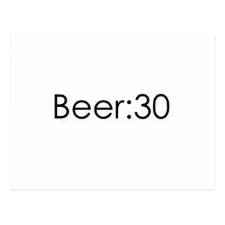 Beer:30 Black Postcard