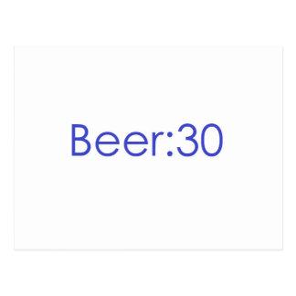 Beer:30 Blue Postcard