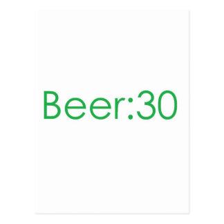 Beer:30 Green Postcard