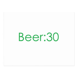 Beer:30 Green Post Card