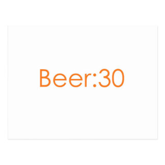 Beer:30 orange postcard