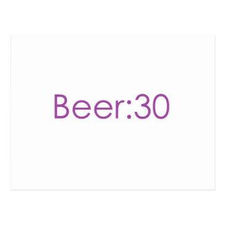Beer:30 Purple Postcard