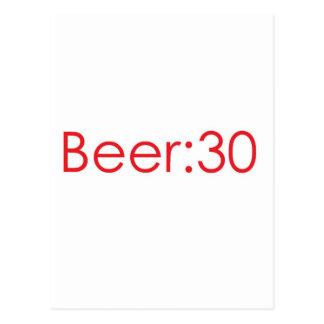 Beer:30 Red Postcard