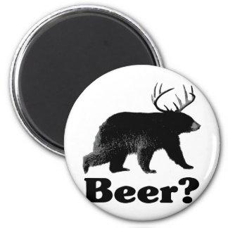 Beer? 6 Cm Round Magnet