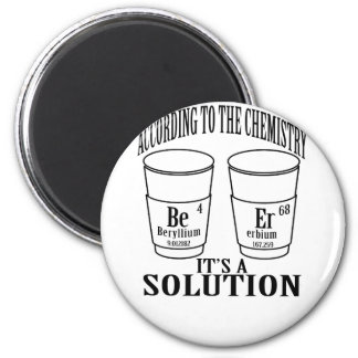 BEER ACCORDING TO CHEMISTRY IT'S A SOLUTION  . MAGNET
