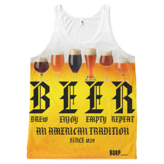 BEER All-Over PRINT SINGLET