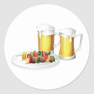 Beer And Barbecue Stickers