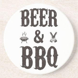 Beer and BBQ Coaster