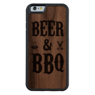 Beer and BBQ Walnut iPhone 6 Bumper Case