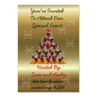 Beer and Chips 3.5x5 Paper Invitation Card
