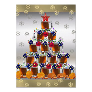 Beer and Chips 5x7 Paper Invitation Card