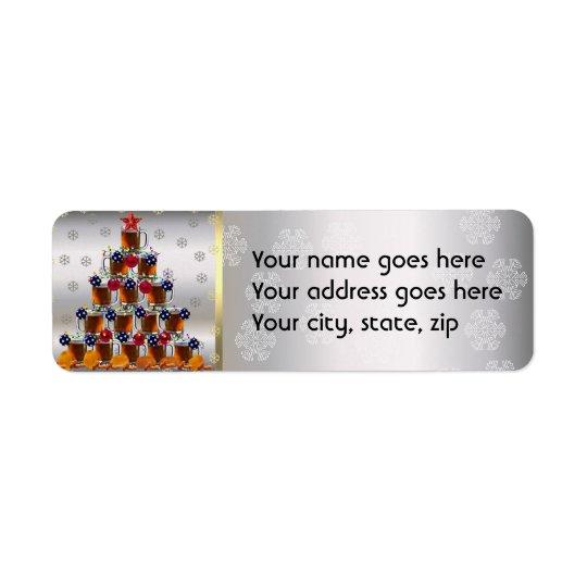 Beer and Chips Return Address Label