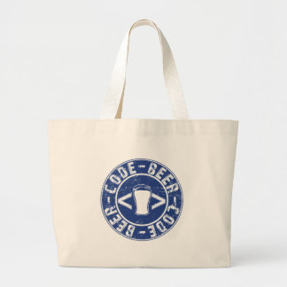 Beer And Code Programmer Large Tote Bag