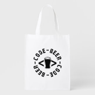 Beer And code Reusable Grocery Bag