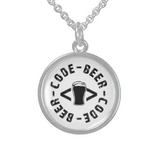 Beer And code Sterling Silver Necklace