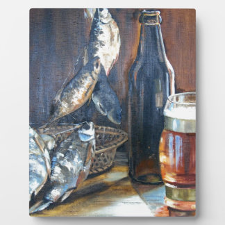 Beer and fish plaque