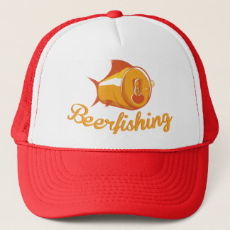 Beer and Fishing Trucker Hat
