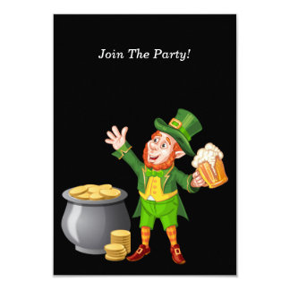 Beer and Gold for Saint Patrick's Day 9 Cm X 13 Cm Invitation Card