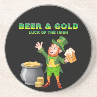 Beer and Gold For the Luck of the Irish Coaster