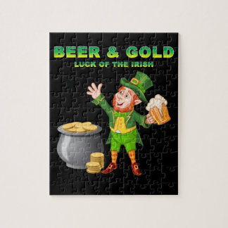 Beer and Gold For the Luck of the Irish Jigsaw Puzzle