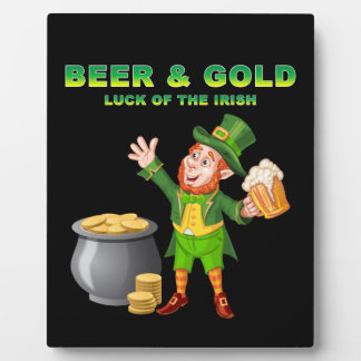 Beer and Gold For the Luck of the Irish Photo Plaques