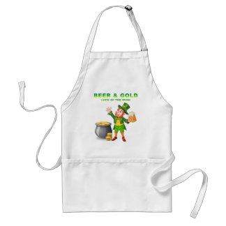 Beer and Gold For the Luck of the Irish Standard Apron