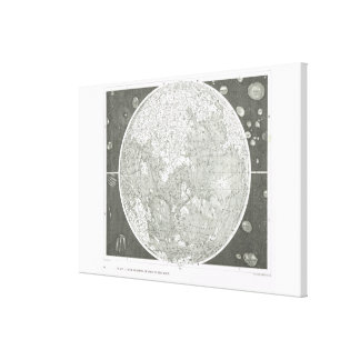 Beer and Madler's map of the moon Stretched Canvas Print