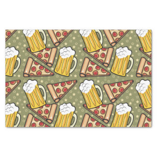 Beer and Pizza Graphic Tissue Paper