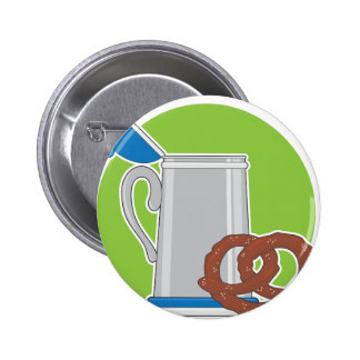 Beer and Pretzel Buttons