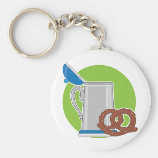 Beer and Pretzel Key Chain