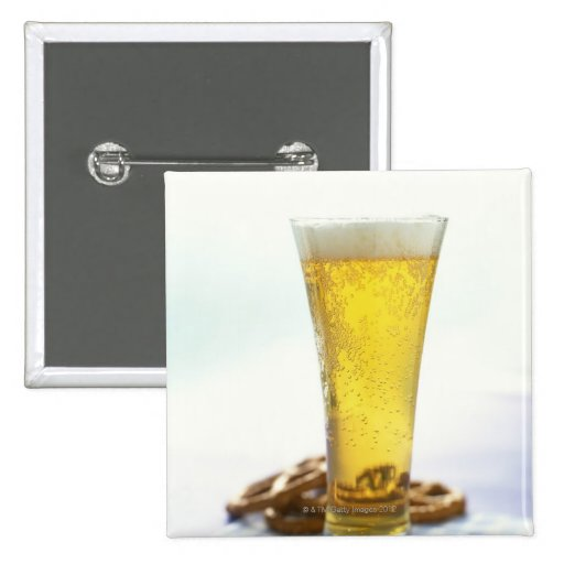Beer and pretzels button
