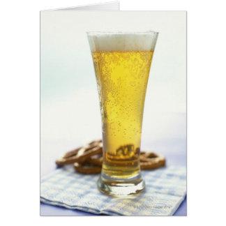 Beer and pretzels card