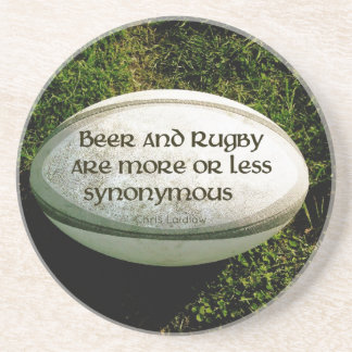 Beer and Rugby Coaster