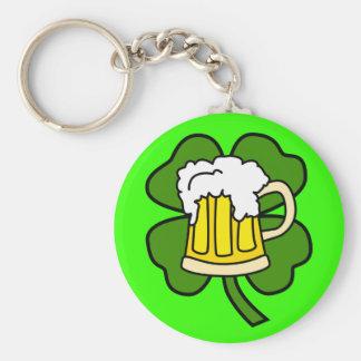 Beer and Shamrock Keychain