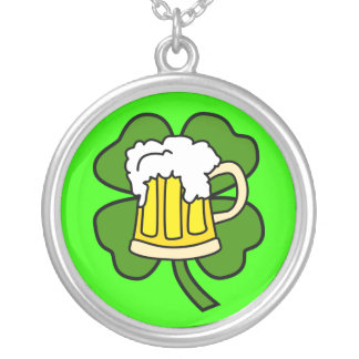 Beer and Shamrock Necklace