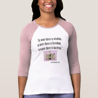 Beer and Wine Lover's T-Shirt - Ben Franklin Quote