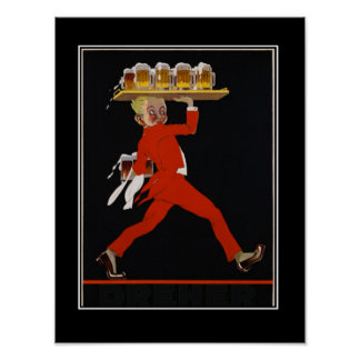 Beer Art Deco vintage poster