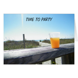 BEER AT THE BEACH TIME TO PARTY WEDDING CARD