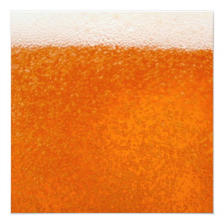 Beer background 13 cm x 13 cm square invitation card