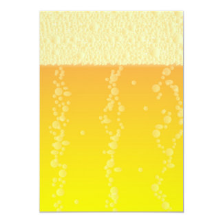Beer Background 13 Cm X 18 Cm Invitation Card
