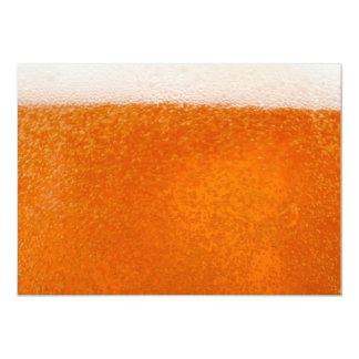 beer backround 13 cm x 18 cm invitation card