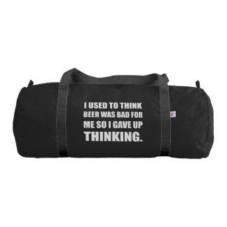 Beer Bad Thinking Gym Bag