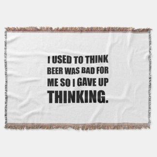 Beer Bad Thinking Throw Blanket