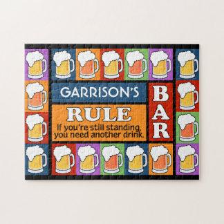 BEER Bar Pop Art CUSTOM NAME puzzle