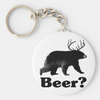 Beer? Basic Round Button Key Ring