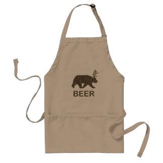 Beer Bear Deer Adult Apron