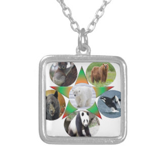 beer, bear, wildlife , animal,zool silver plated necklace