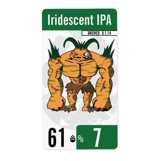 beer-beast.com - Beer Label - Green Shipping Label