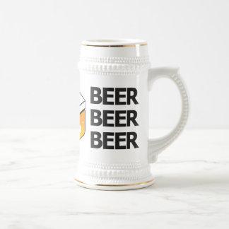 Beer Beer Beer JP Logo Stein